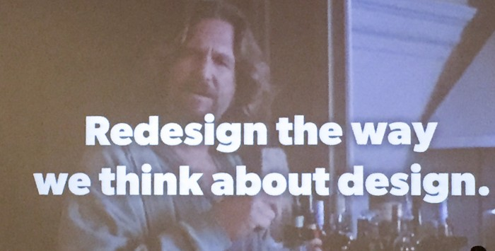 """From J Cornelius - """"Redesign our Design Thinking"""""""